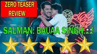 ZERO Teaser 2 REVIEW I SRK And SALMAN Wishes EID Mubarak TO Everyone