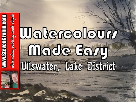 Watercolour painting demo of Ullswater in the Lake District