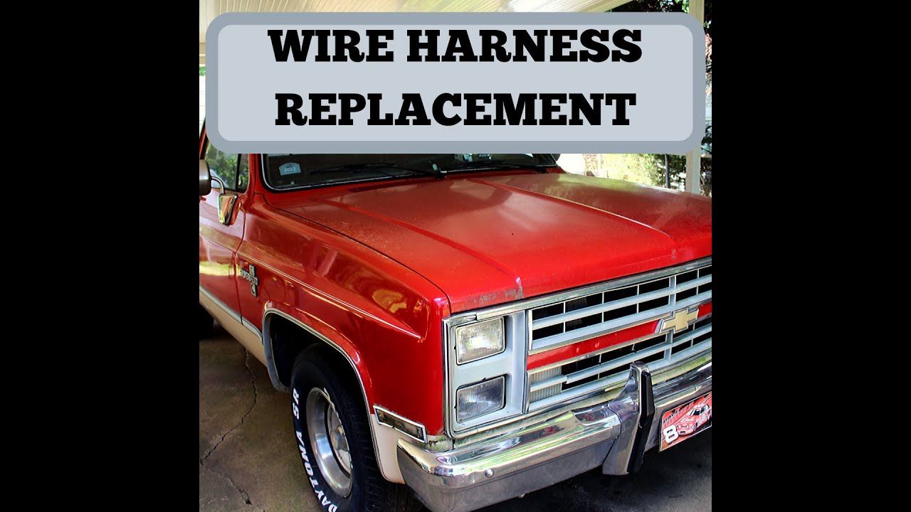 1985 C10 Wire Harness Replace. Head lights. - YouTube  YouTube