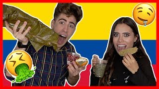 PROBANDO COMIDA COLOMBIANA ft. PAULETTEE | Alejo Igoa