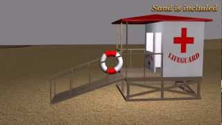 Free Exploding Lifeguard Tower Iclone Prop