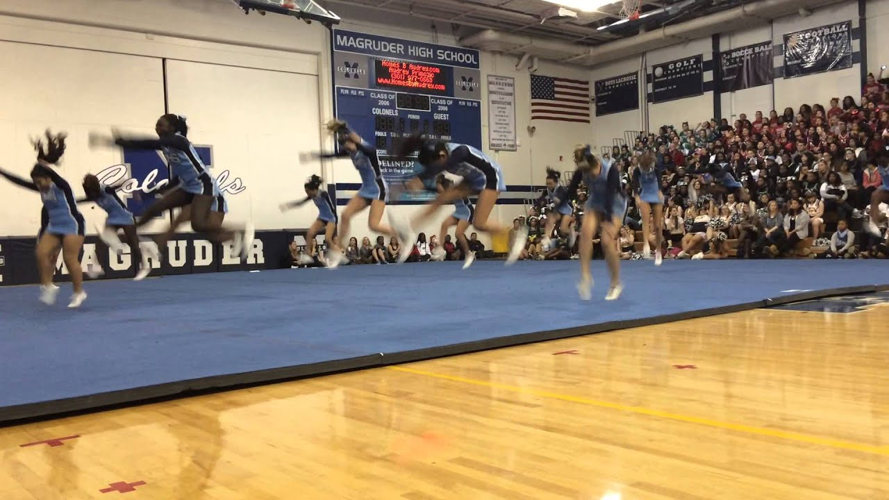 Clarksburg High School JV cheer expo 2014  YouTube