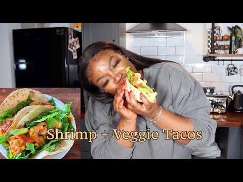 Shrimp + Veggie Tacos | DREA's LAZY MEALS