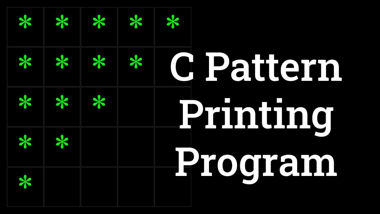 C Pattern Printing Program