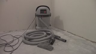 Пылесос Интерскол ПУ-32/1200 ,обзор, примеры работы, насадка для сверления стен.