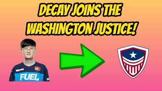 Decay Signs with the Washington Justice!