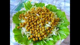 Новое видео. Зелёный салат. Для тех, кто на диете. Быстро и полезно