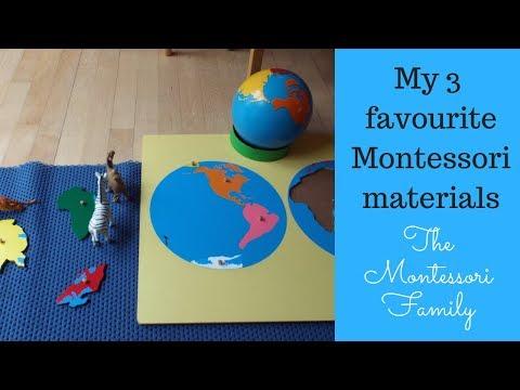My 3 Favorite Montessori Materials