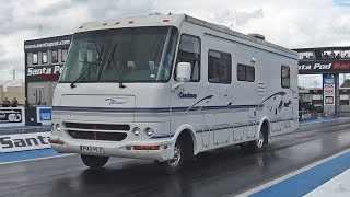 American RV Goes Drag Racing at Santa Pod Raceway!