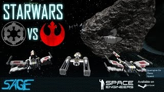 Space Engineers, Star Wars, Empire vs Rebels (Base Defense)