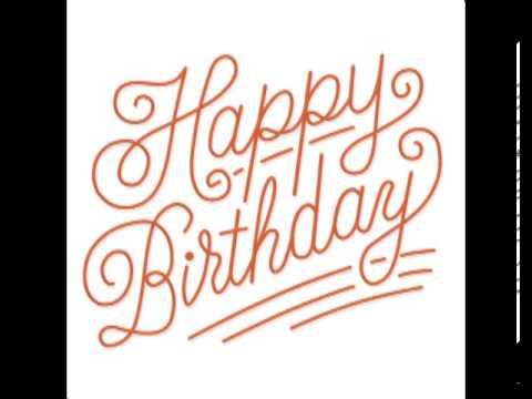 happy birthday text animation youtube