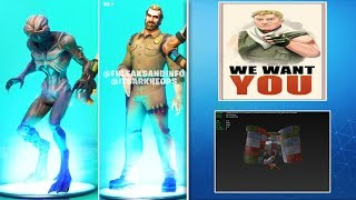 *NEW* DEMOGORGON & CHIEF HOPPER SKINS SHOWCASE IN GAME! (Fortnite Stranger Things Skins UNLOCKED)