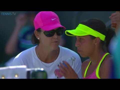 Lindsay Davenport First On Court Coach With Madison Keys | 2015 BNP Paribas Open