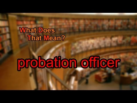 What does probation officer mean?