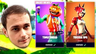 FORTNITE's new TomatoHead PIZZA Skin (LIVE)