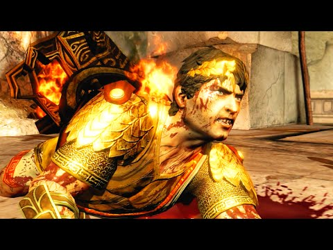 God Of War 3 Remastered Helios Kills Kratos With Sun Light HD 60FPS 1080p