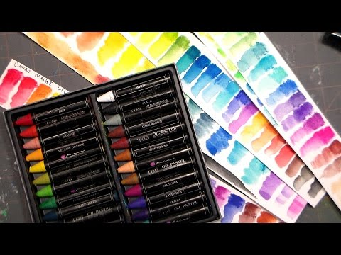 NEW Prima Water-soluble Oil Pastels Review and Comparison!
