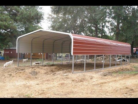 Building A 20x40 Foot Rabbitry Carport Youtube