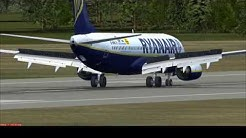 Flight Simulator 2004: Ryanair Boeing 737-800W EI-DHX at Palanga.