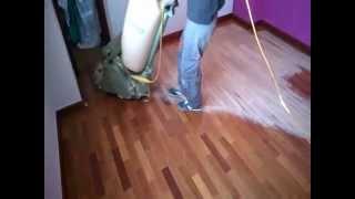 Cómo acuchillar, lijar o pulir un suelo de madera, parquet o tarima. Tutorial básico.