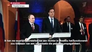 Vladimir Poetin geeft Mark Rutte koekje van eigen deeg!