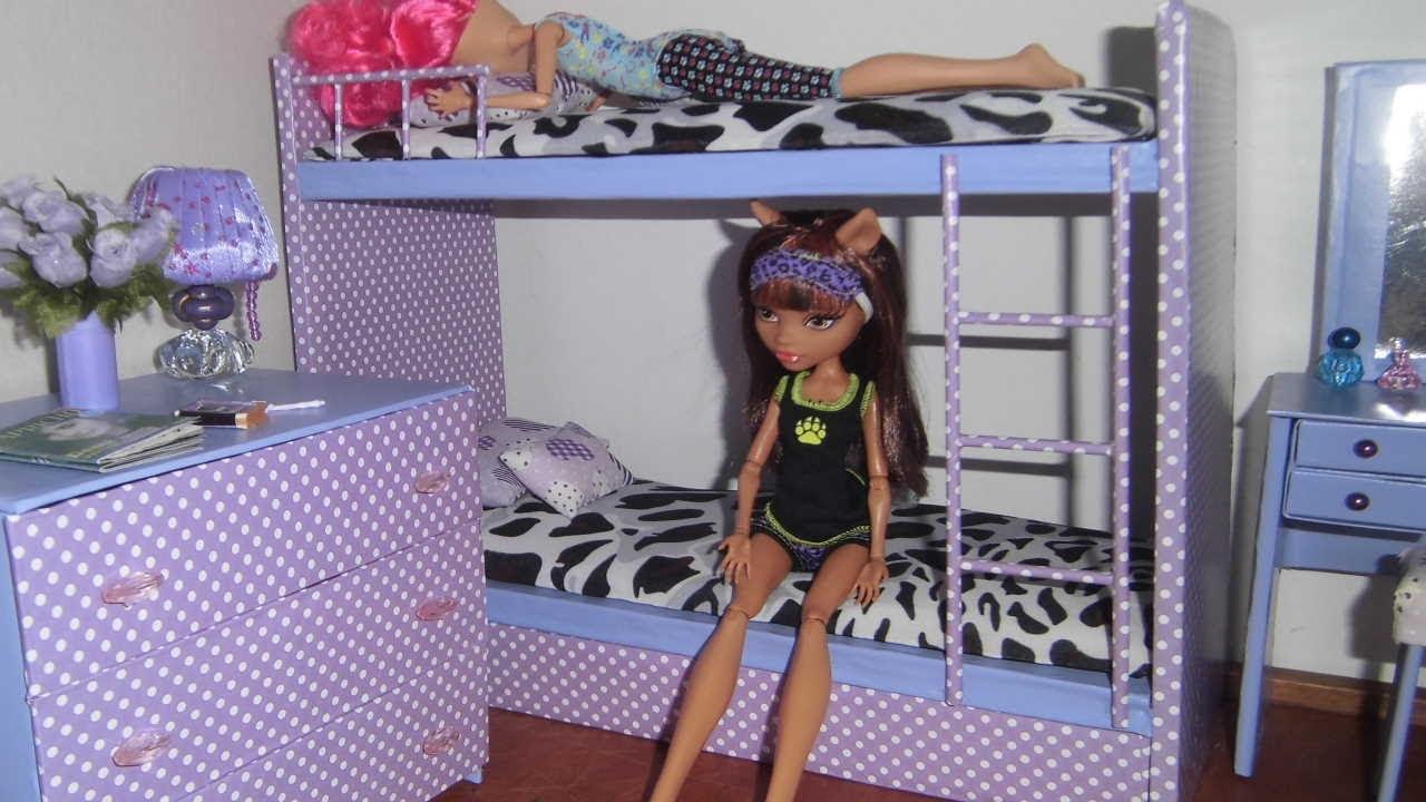 Awesome Como fazer beliche treliche para boneca Monster High Barbie e etc YouTube