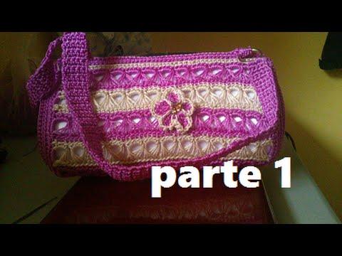 Parte 1 de 3 bolsa tejida a crochet punto peruano - Bolsos tejidos a crochet ...
