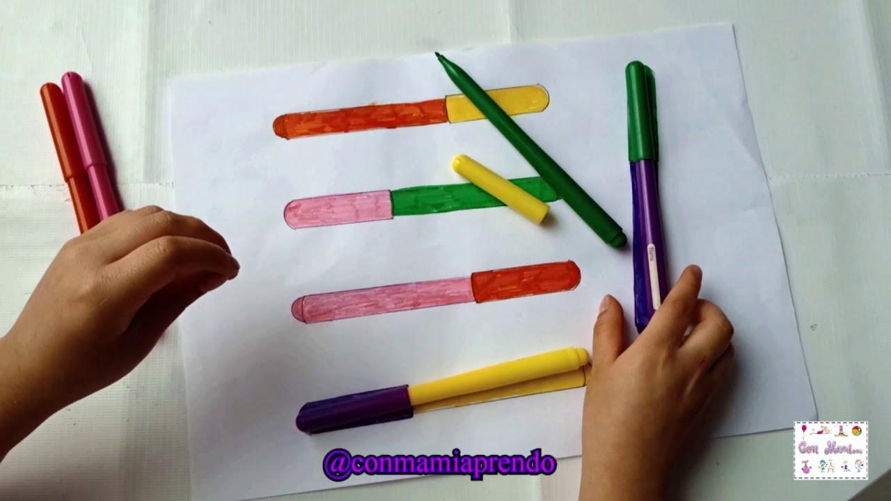 Actividad para estimular la atenci n y concentraci n con plumones para ni os de preescolar - Colores para la concentracion ...