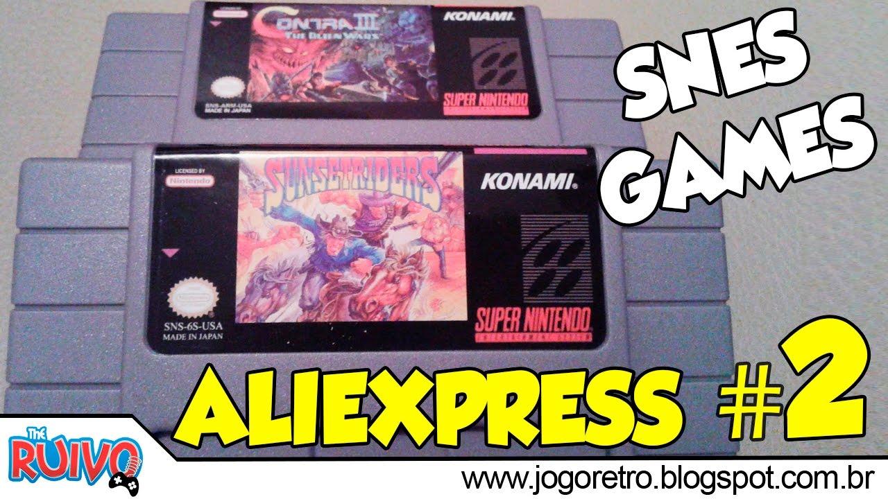 AliExpress - Comprei jogos de SUPER NINTENDO #02 (Unboxing e Testes)