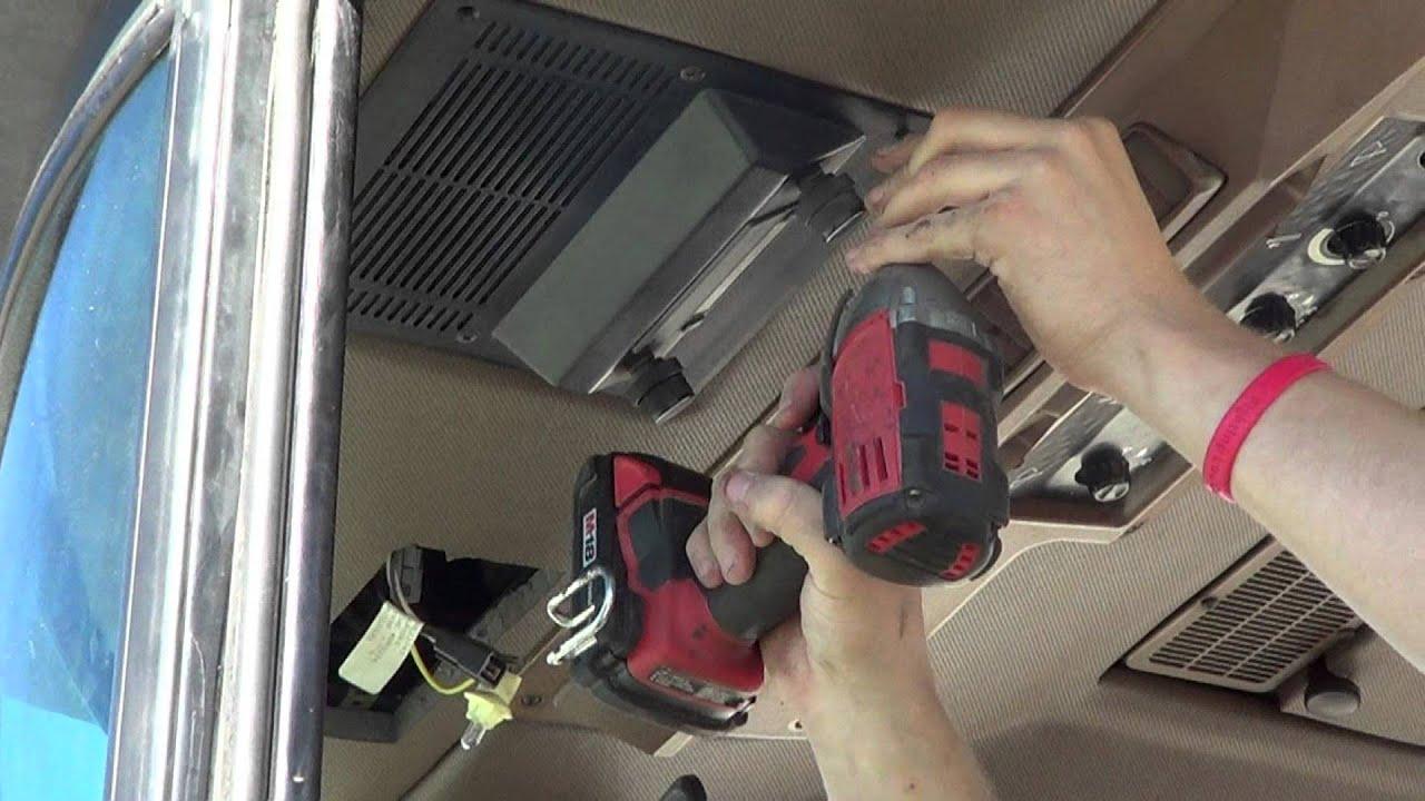tractor cab interior installation fehr cab interiors youtube