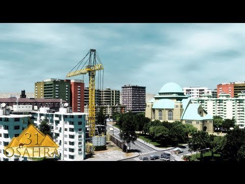 Cities Skylines: Osahra - New District, Hospital and lot of Parking areas #31
