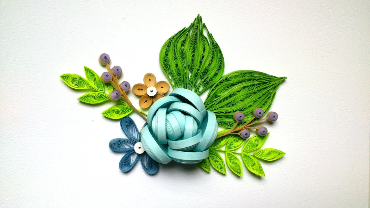 paper rose tutorial how to make a beautiful quilling rose