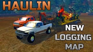 FARMING SIMULATOR 2015 | HAULING LOGGING EQUIPMENT | NEW MULTIPLAYER MAP!