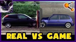 BeamNG.drive vs Real Life - 120 mp/h Crash Test (Game vs Real) #2