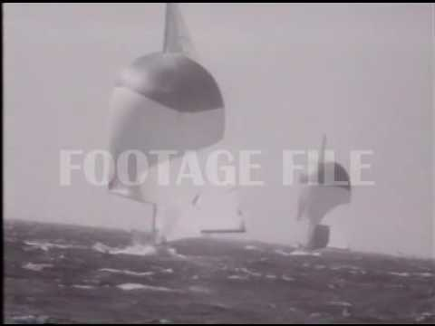 Stock Footage: Yachting, America's Cup, 1962 #8337
