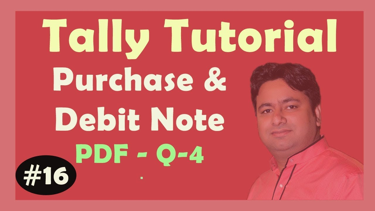 TALLY PDF Solution - Purchase Book Q-4 in TALLY ERP9 | Learn ERP9 Advance  With GST