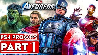 MARVEL'S AVENGERS Gameplay Walkthrough Part 1 [1080P HD 60FPS PS4 PRO] - No Commentary (FULL GAME)
