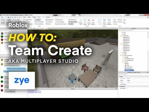 Roblox How To Team Create Multiplayer Studio Youtube