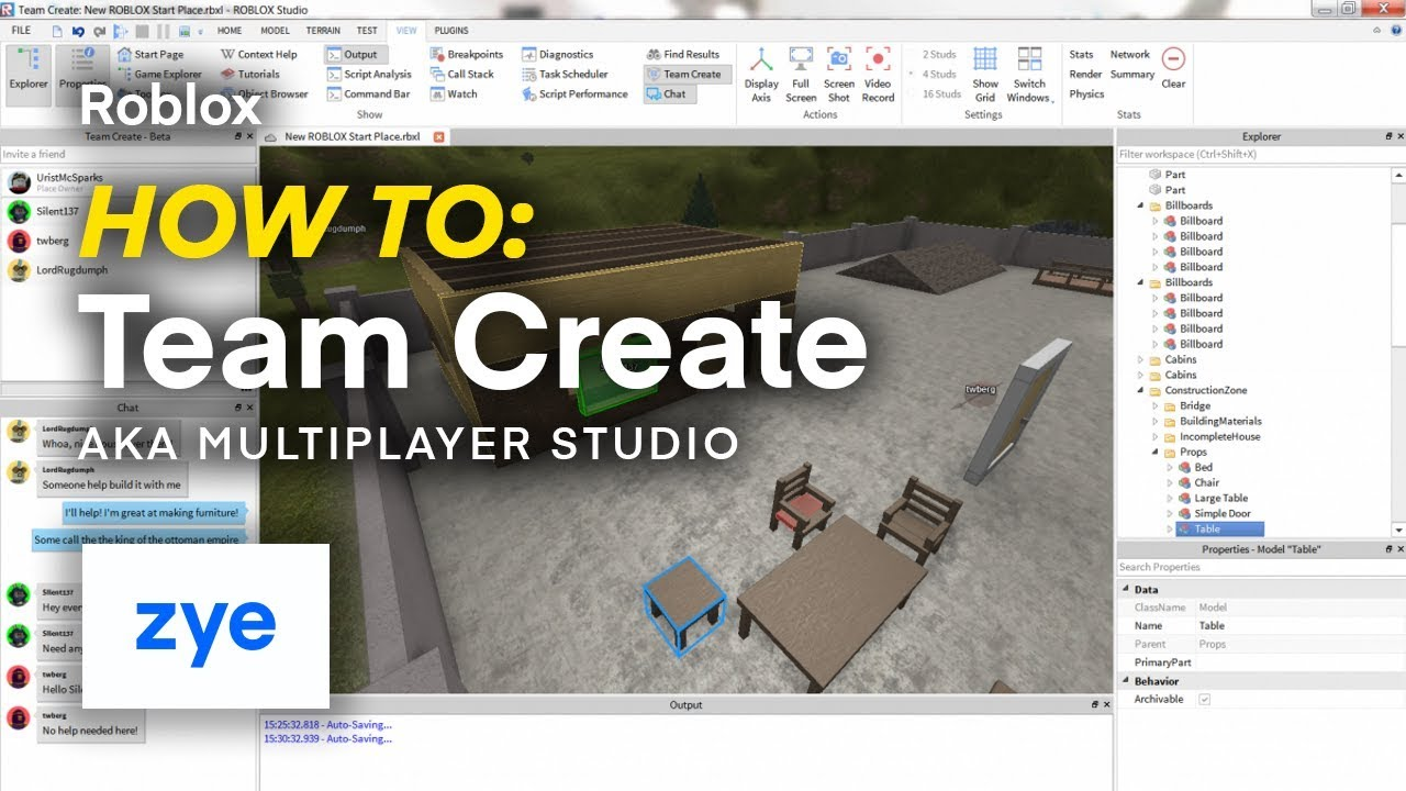 How To Team Create In Roblox Studio 2020 Roblox How To Team Create Multiplayer Studio Youtube