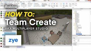 Roblox | How To: Team Create (Multiplayer Studio)