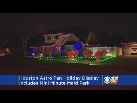 Houston Astro Fan Creates World Series Holiday Display