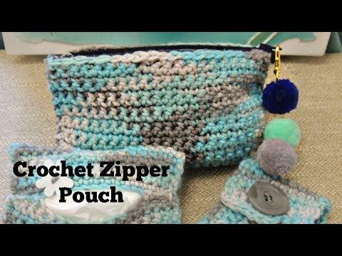 Crochet Zipper Pouch-Beginner Project