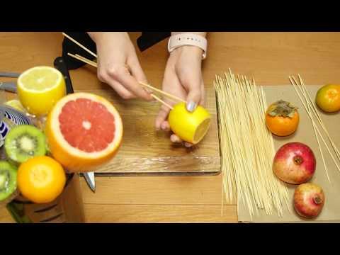 Фруктовый букет своими руками из целых фруктов