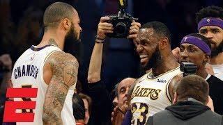 LeBron's go-ahead dunk, Tyson Chandler block seal Lakers win vs. Hawks | NBA Highlights