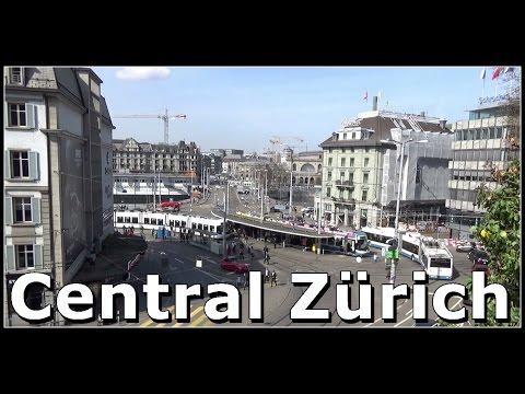 Strassenbahnen, Trams am Central Zürich, Schweiz 2017