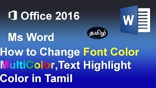 How to change  Font Color, Gradient Color and Text Highlight Color