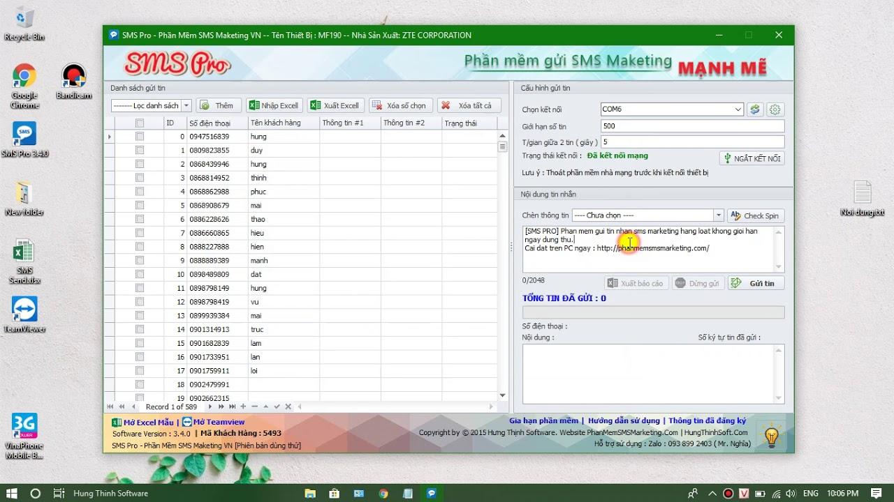 Hướng dẫn sử dụng SMS Pro – Phần mềm gửi tin nhắn sms marketing