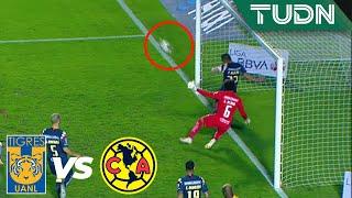 ¡Paul Aguilar la sacó en la línea¡   Tigres 0 - 3 América   Liga Mx - AP 19 - 4tos de final   TUDN