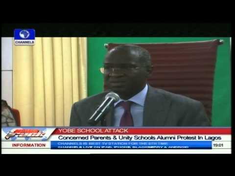 Parents, Unity Schools Alumni Protest In Lagos Over School Attack