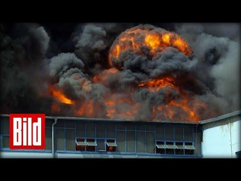 Giftwolke über Berlin - Feuer-Drama auf Großmarkt-Gelände